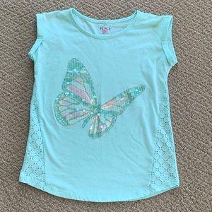 Children's Place Sequin Butterfly T-Shirt